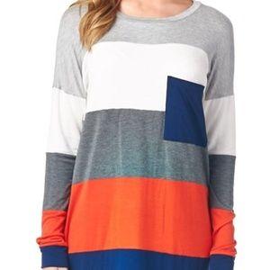 Women's Vanilla Bay Tunic Color Block Navy Orange
